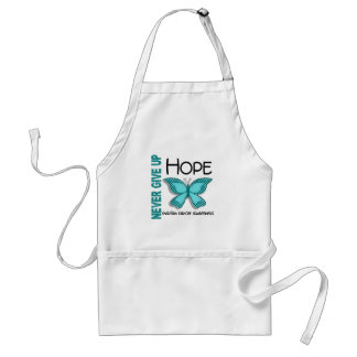 Ovarian Cancer Never Give Up Hope Butterfly 4.1 Adult Apron