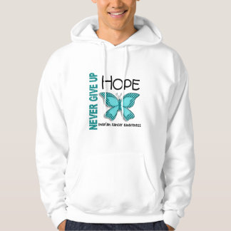 Ovarian Cancer Never Give Up Hope Butterfly 4.1 Hoodie