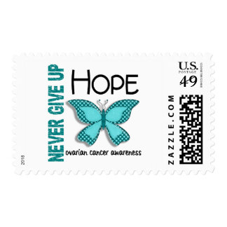 Ovarian Cancer Never Give Up Hope Butterfly 4.1 Postage Stamps