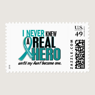 Ovarian Cancer NEVER KNEW A HERO 2 Aunt Postage