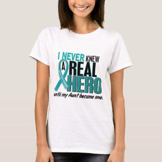 Ovarian Cancer NEVER KNEW A HERO 2 Aunt T-Shirt