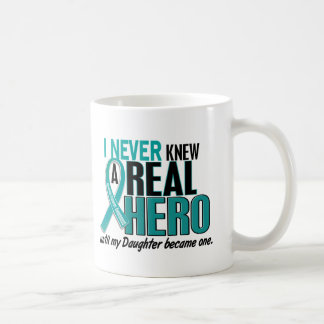 Ovarian Cancer NEVER KNEW A HERO 2 Daughter Coffee Mug