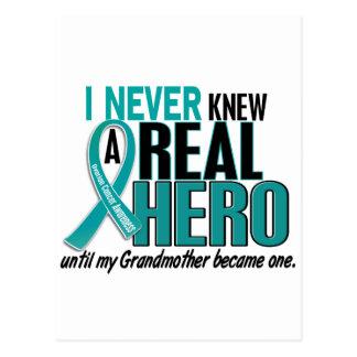 Ovarian Cancer NEVER KNEW A HERO 2 Grandmother Postcard