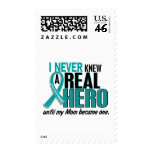 Ovarian Cancer NEVER KNEW A HERO 2 Mom Postage Stamps