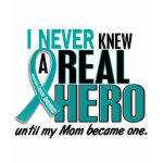 Ovarian Cancer never knew a hero Mom t-shirt