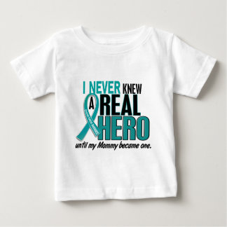 Ovarian Cancer NEVER KNEW A HERO 2 Mommy Shirt