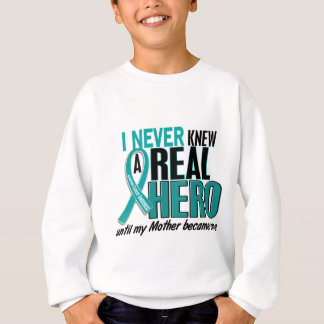 Ovarian Cancer NEVER KNEW A HERO 2 Mother Sweatshirt