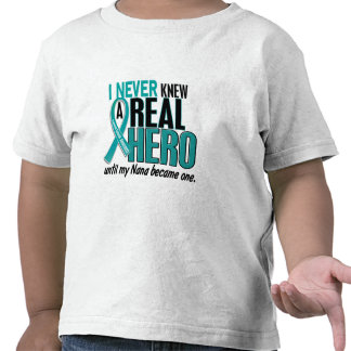 Ovarian Cancer NEVER KNEW A HERO 2 Nana Tees