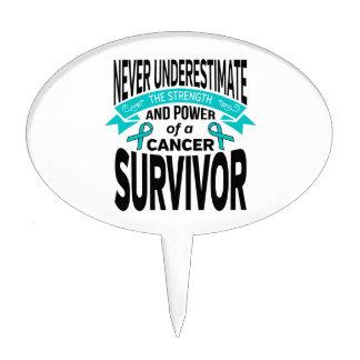 Ovarian Cancer Never Underestimate Strength Cake Topper