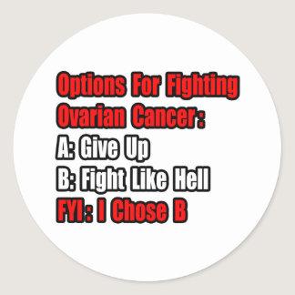 Ovarian Cancer Options Classic Round Sticker