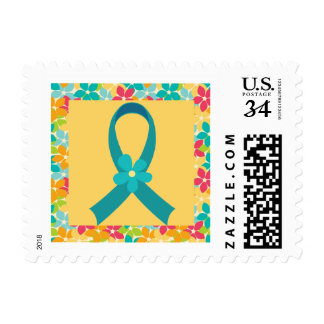 Ovarian Cancer or PCOS Awareness Postage