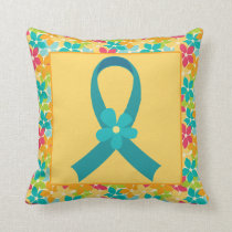 Ovarian Cancer or PCOS Ribbon Pillow Gift