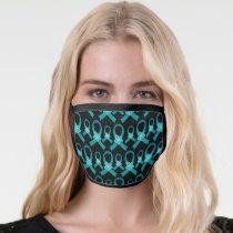 Ovarian Cancer PCOS Teal Awareness Ribbon Face Mask