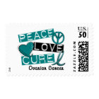 Ovarian Cancer PEACE LOVE CURE 1 Postage