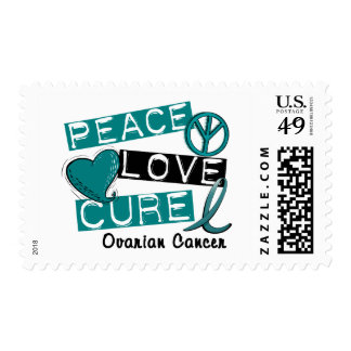 Ovarian Cancer PEACE LOVE CURE 1 Postage Stamps