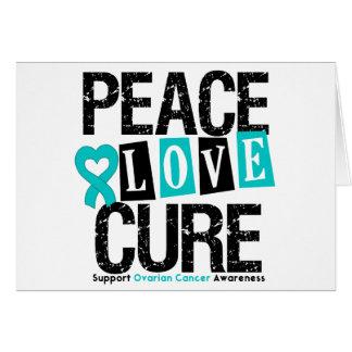 Ovarian Cancer Peace Love Cure Card