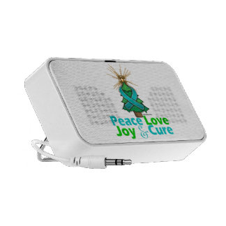 Ovarian Cancer Peace Love Joy Cure iPod Speakers