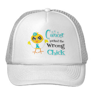 Ovarian Cancer Picked The Wrong Chick Trucker Hat