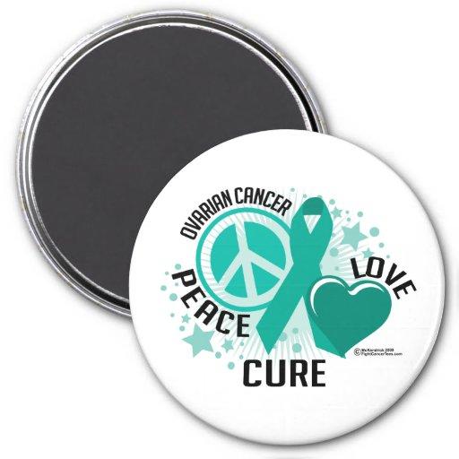 Ovarian Cancer PLC 3 Inch Round Magnet
