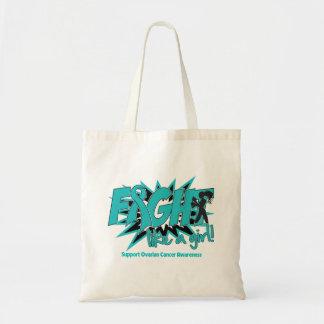 Ovarian Cancer POW Style Fight Like A Girl Budget Tote Bag