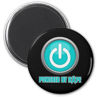 Ovarian Cancer Powered by Hope 2 Inch Round Magnet