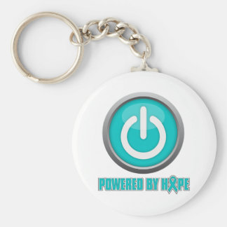 Ovarian Cancer Powered by Hope Key Chain
