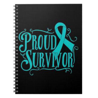 Ovarian Cancer Proud Survivor Spiral Note Books