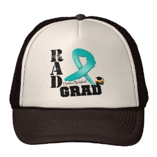 Ovarian Cancer Radiation Therapy RAD Grad Mesh Hats