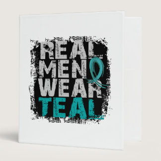 Ovarian Cancer Real Men Wear Teal 3 Ring Binder
