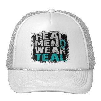 Ovarian Cancer Real Men Wear Teal Trucker Hat