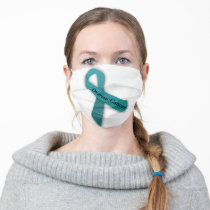 Ovarian Cancer Ribbon Adult Cloth Face Mask