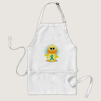 Ovarian Cancer Ribbon Duck Adult Apron