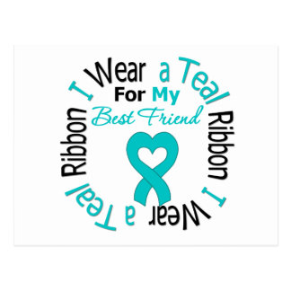 Ovarian Cancer Ribbon For My Best Friend Postcard