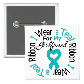 Ovarian Cancer Ribbon For My Girlfriend Pins