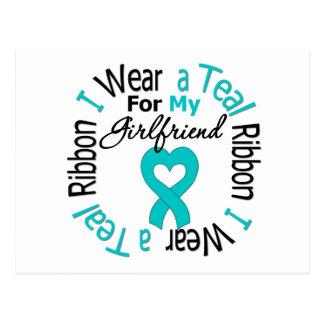 Ovarian Cancer Ribbon For My Girlfriend Postcard