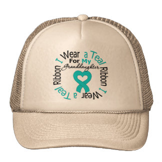Ovarian Cancer Ribbon For My Granddaughter Trucker Hat