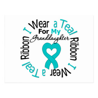 Ovarian Cancer Ribbon For My Granddaughter Postcard