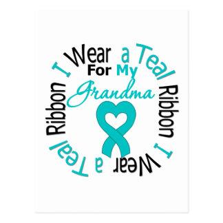 Ovarian Cancer Ribbon For My Grandma Postcard