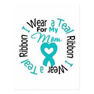 Ovarian Cancer Ribbon For My Mom Postcard
