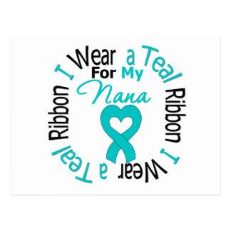 Ovarian Cancer Ribbon For My Nana Postcard