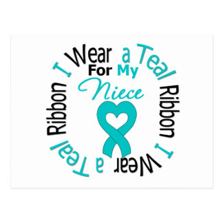 Ovarian Cancer Ribbon For My Niece Postcard