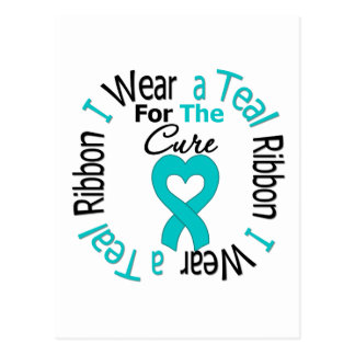 Ovarian Cancer Ribbon For The Cure Postcard