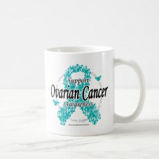 Ovarian Cancer Ribbon of Butterflies Coffee Mug