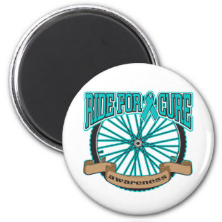 Ovarian Cancer Ride For Cure 2 Inch Round Magnet