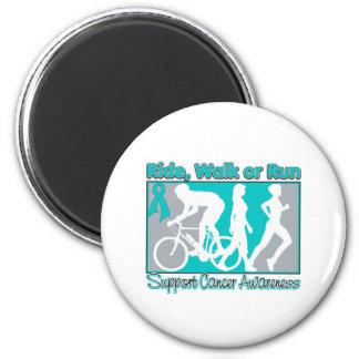Ovarian Cancer Ride Walk Run 2 Inch Round Magnet