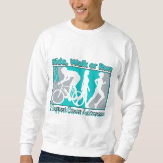 Ovarian Cancer Ride Walk Run Pull Over Sweatshirt
