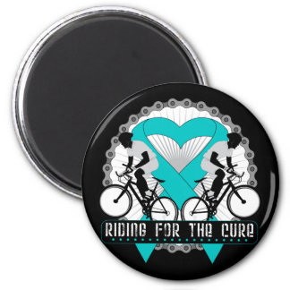 Ovarian Cancer Riding For The Cure 2 Inch Round Magnet