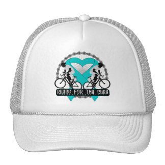 Ovarian Cancer Riding For The Cure Trucker Hat