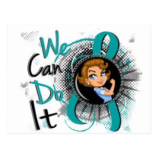 Ovarian Cancer Rosie Cartoon WCDI.png Postcard