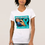 Ovarian Cancer Rosie Riveter - Fight Like a Girl Tshirts